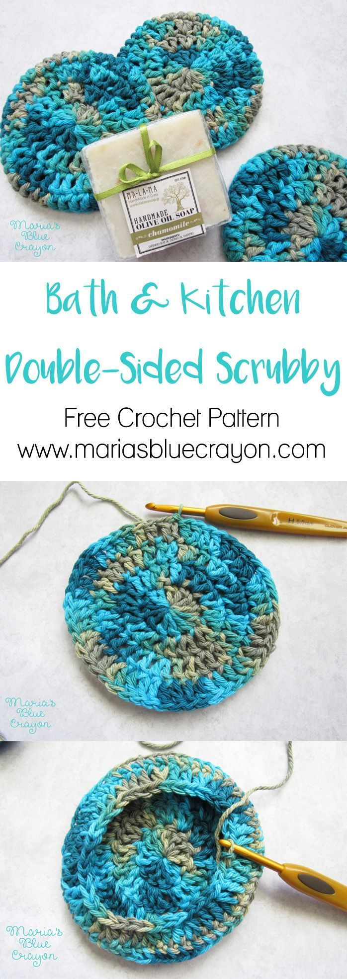Double Sided, Extra Thick Scrubby for Bath & Kitchen | Patrón de ...