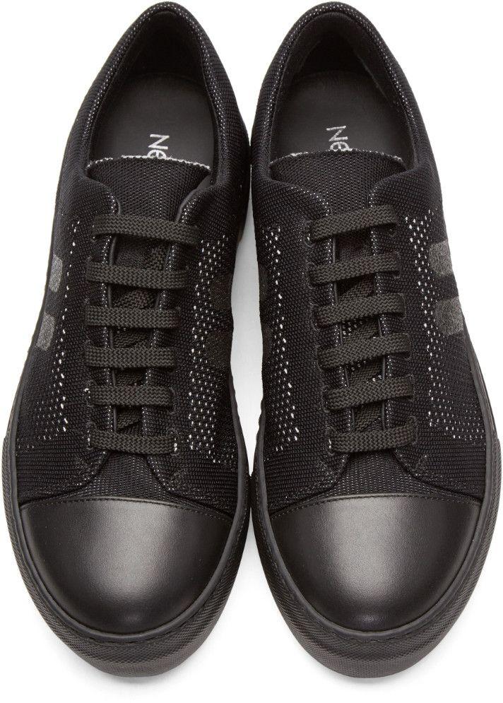 Neil Barrett - Black Skateboard Sneakers