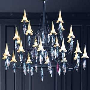 Plume 24 Light Crystal Chandelier By Baccarat Black Crystal Chandelier Crystal Chandelier Chandelier