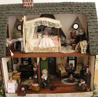 Custom Styled Dollhouse Kits: Orchid Dollhouse Building Blog Days 8 & 9