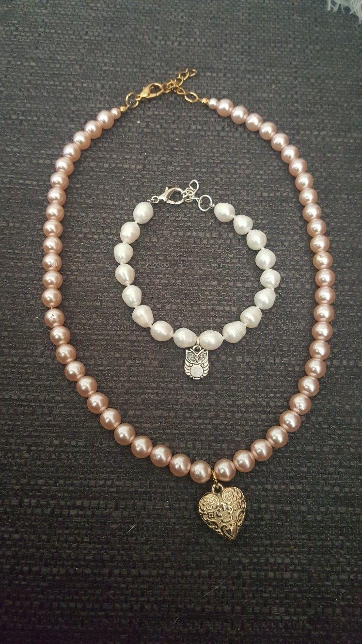 Romantic jewelry pearl set #DIY #Jewelry #Set #White #Silver ...