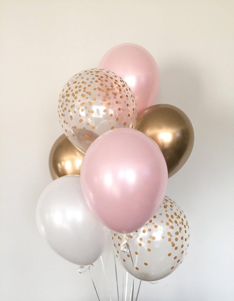Pink Blush Balloons Blush And Gold Balloons Gold And Blush Balloons Blush Bridal Shower Decor Blush Baby Shower Blush Balloons Blush Bridal Showers Blush Baby Shower