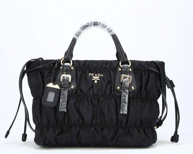 af7c6e543138 Prada Tessuto Gaufre Tote Bag Black -  298.00   prada.lllbag.com - Prada  Bags Store