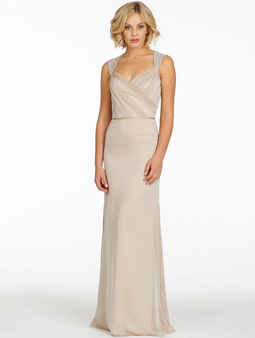 Click to buy ucuc simple cheap beaded long chiffon bridesmaid dresses