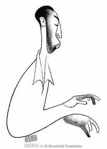 Al Hirschfeld Jelly Roll Morton Hirschfeld Nina In