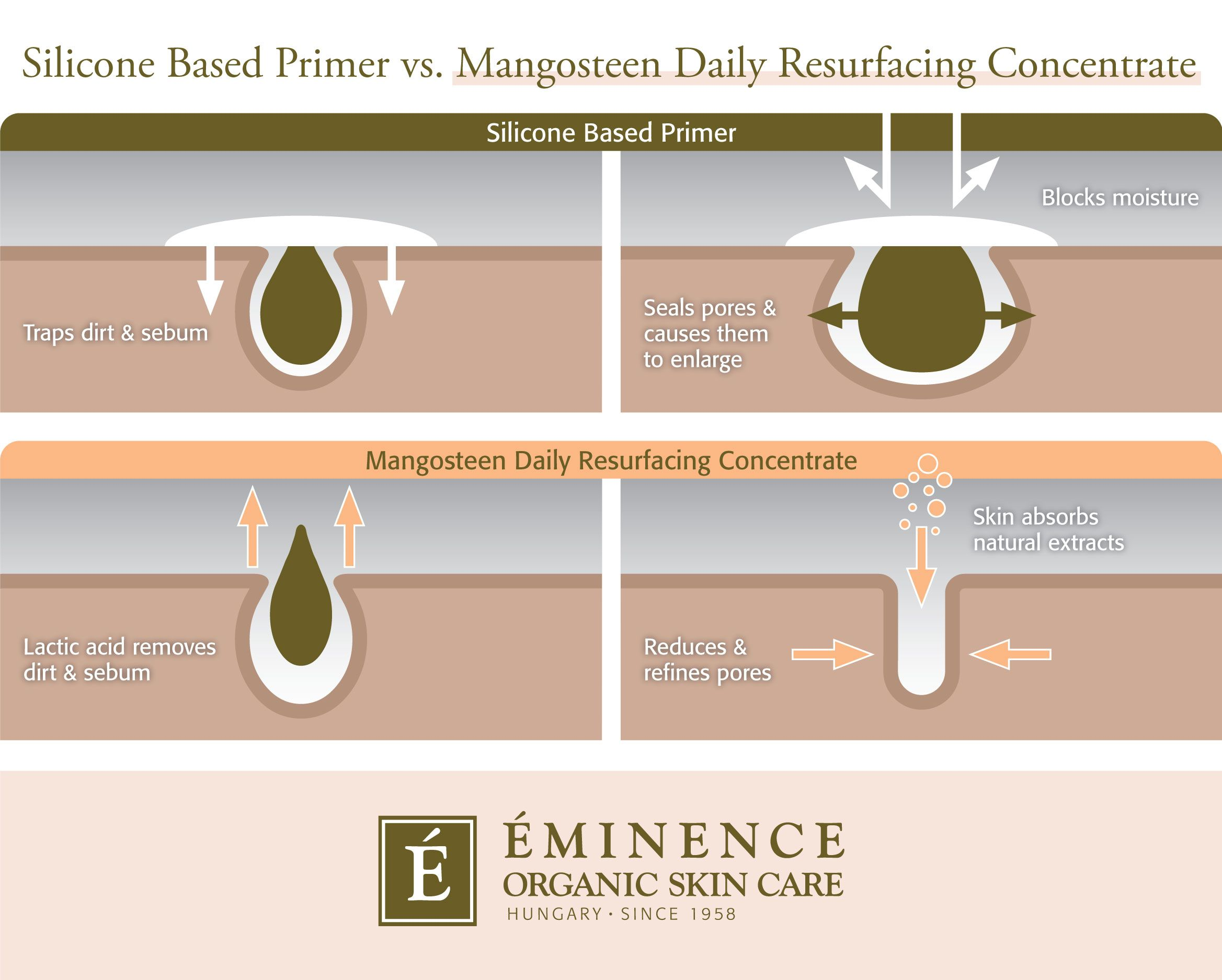 How Silicone Based Primers Are Ruining Your Pores Eminence Organic Skin Care Skin Cleanser Products Oil Skin Care Routine