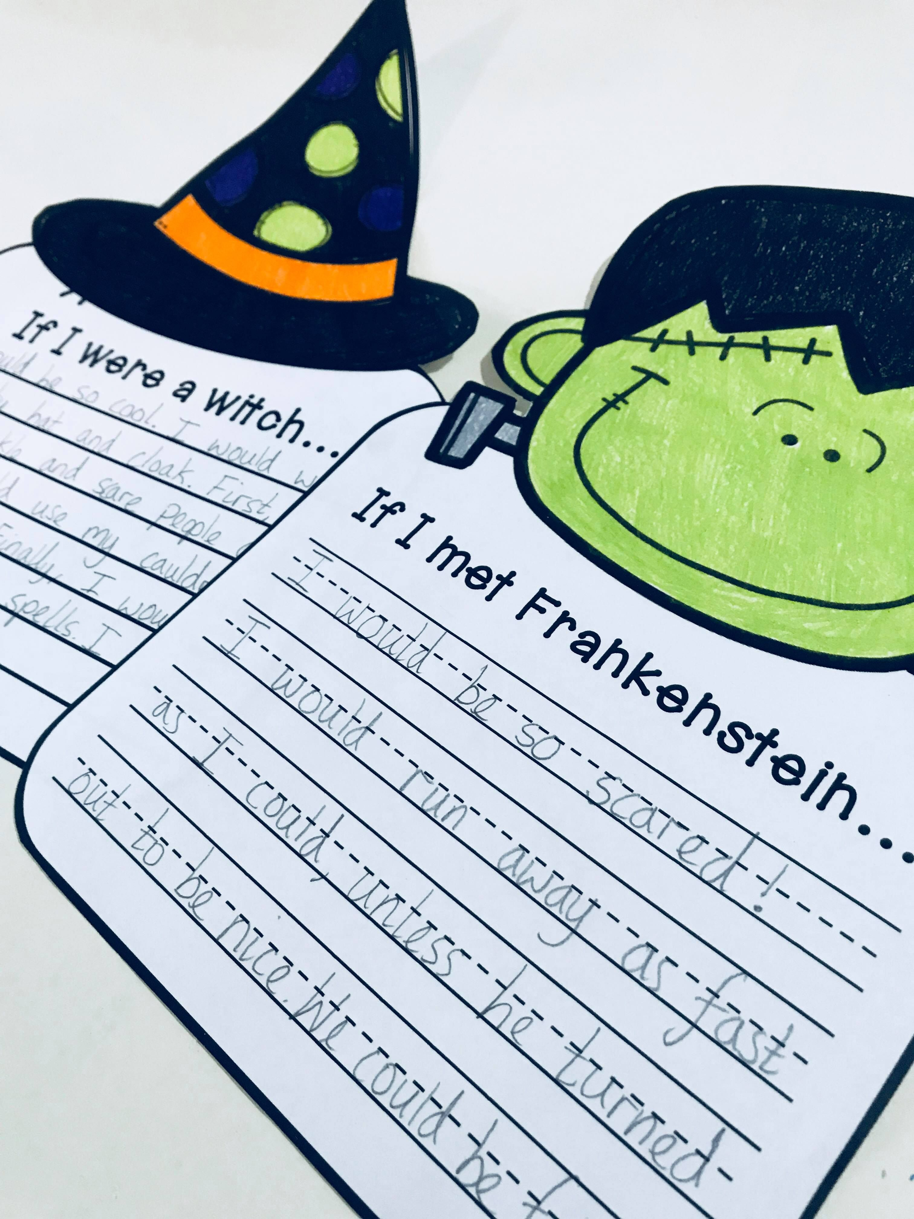 Halloween Craftivity 3 No Prep Writing Prompts Amp Crafts