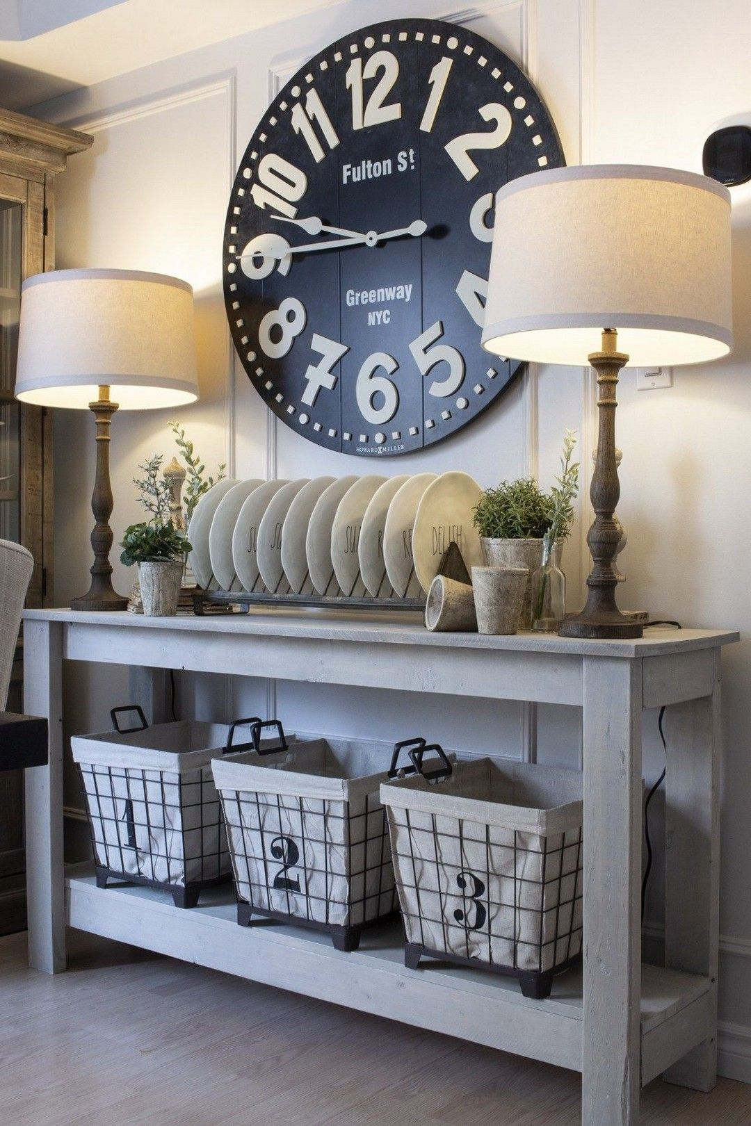 Want this clock but in cranberry for my dining room. #farmhousediningroom