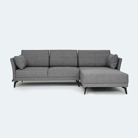 Jervis L Shape Sofa - Grey | Things to buy | L shaped sofa ...