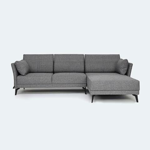 Jervis L Shape Sofa Grey Meuble Maison Meuble Maison