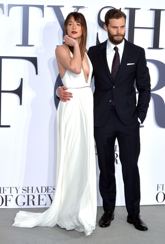 Jamie Dornan And Dakota Johnson At The Fifty Shades Of Grey London