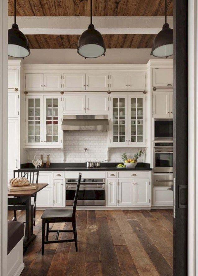 56 Awesome Farmhouse Style Kitchen Cabinet Design Ideas | Pinterest ...