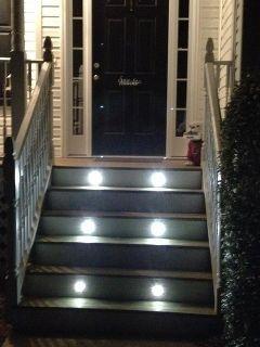 Diy Stair Lighting Decks Electrical Stairs Deck Kit