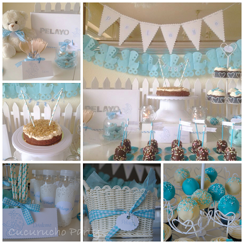 Mesa dulce baby shower ni o mesas dulces blue beach for Mesa de dulces para baby shower nino