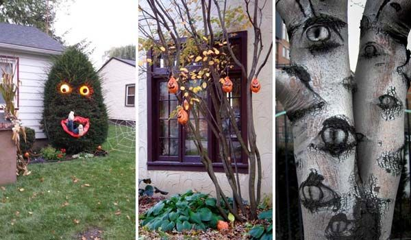 Top 21 Creepy Ideas To Decorate Outdoor Trees For Halloween Outdoor Tree Decorations Halloween Outdoor Decorations Scary Christmas