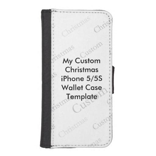 My Custom Christmas iPhone5 Wallet Case Template Phone Wallet - phone roster template