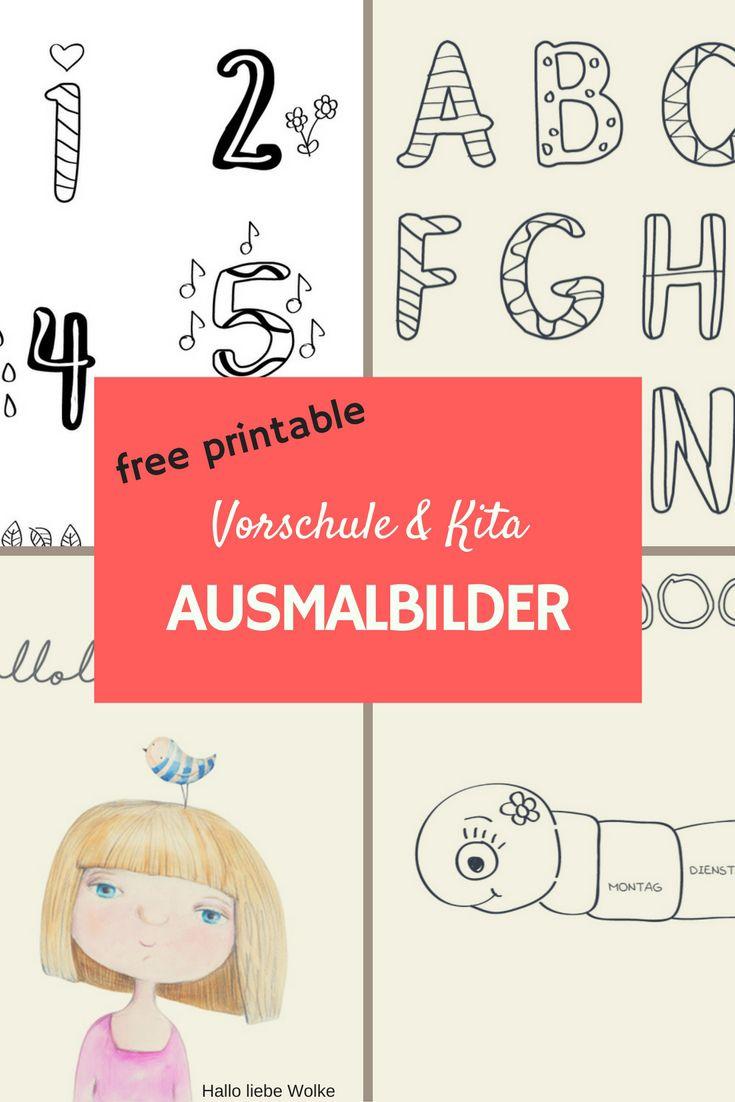 Free printable. Ausmalbilder und Malvorlagen für Kindergarten, Kita ...
