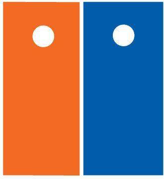 Orange and Blue Cornhole Boards 1384 by CustomTailgateGames