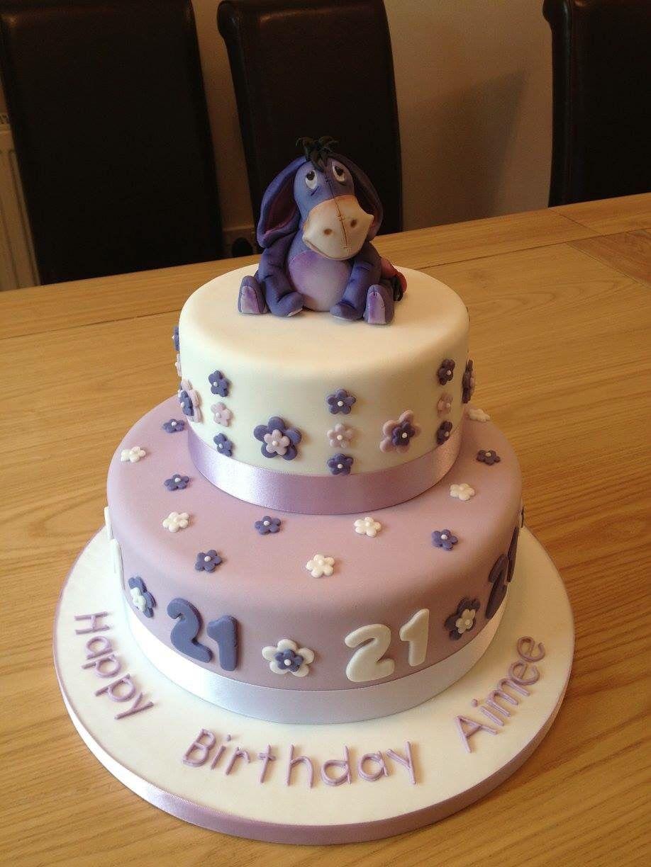 21st Birthday Eeyore Cake Www Christiecartercakes Co Uk