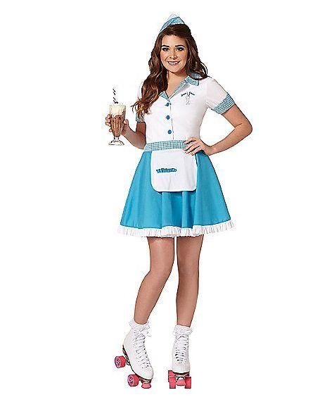 689f67b8 Car Hop Adult Womens Costume - Spirithalloween.com Adult Car Hop Costume -  Spirithalloween.