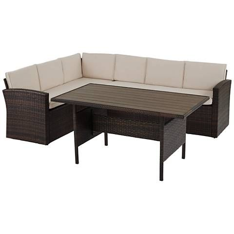 Awesome Sorrento Bay Wicker 3 Piece Outdoor Sectional Patio Set Uwap Interior Chair Design Uwaporg