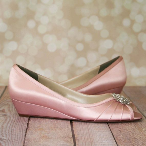 Wedding Shoes Pink Wedge Bridal Shoes Light Pink Shoes Vintage Wedding Pink Wedding Antiqu Pink Wedding Shoes Wedge Wedding Shoes Blush Wedding Shoes