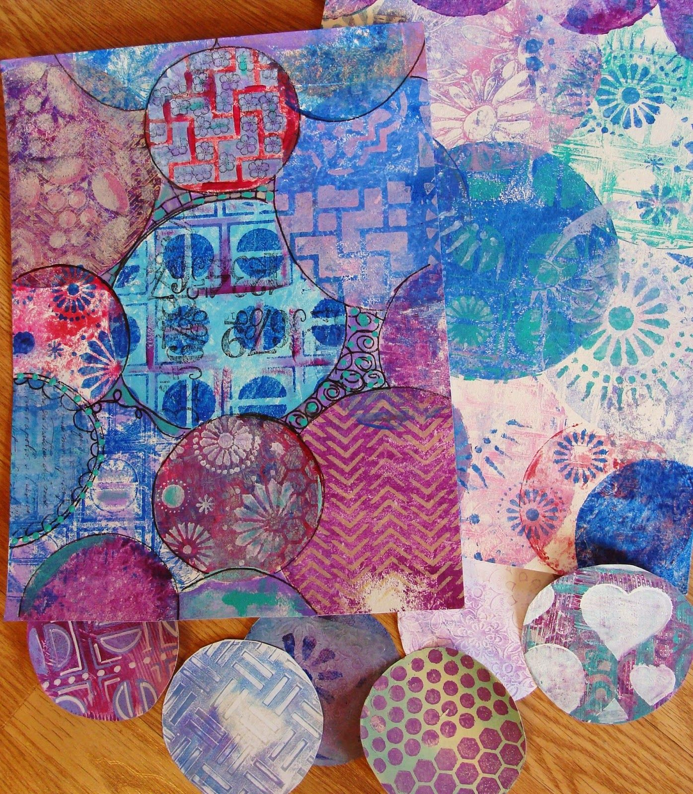 Round gelli plate tutorial part 1 with mixed media artist diane round gelli plate tutorial part 1 with mixed media artist diane salter i love baditri Gallery