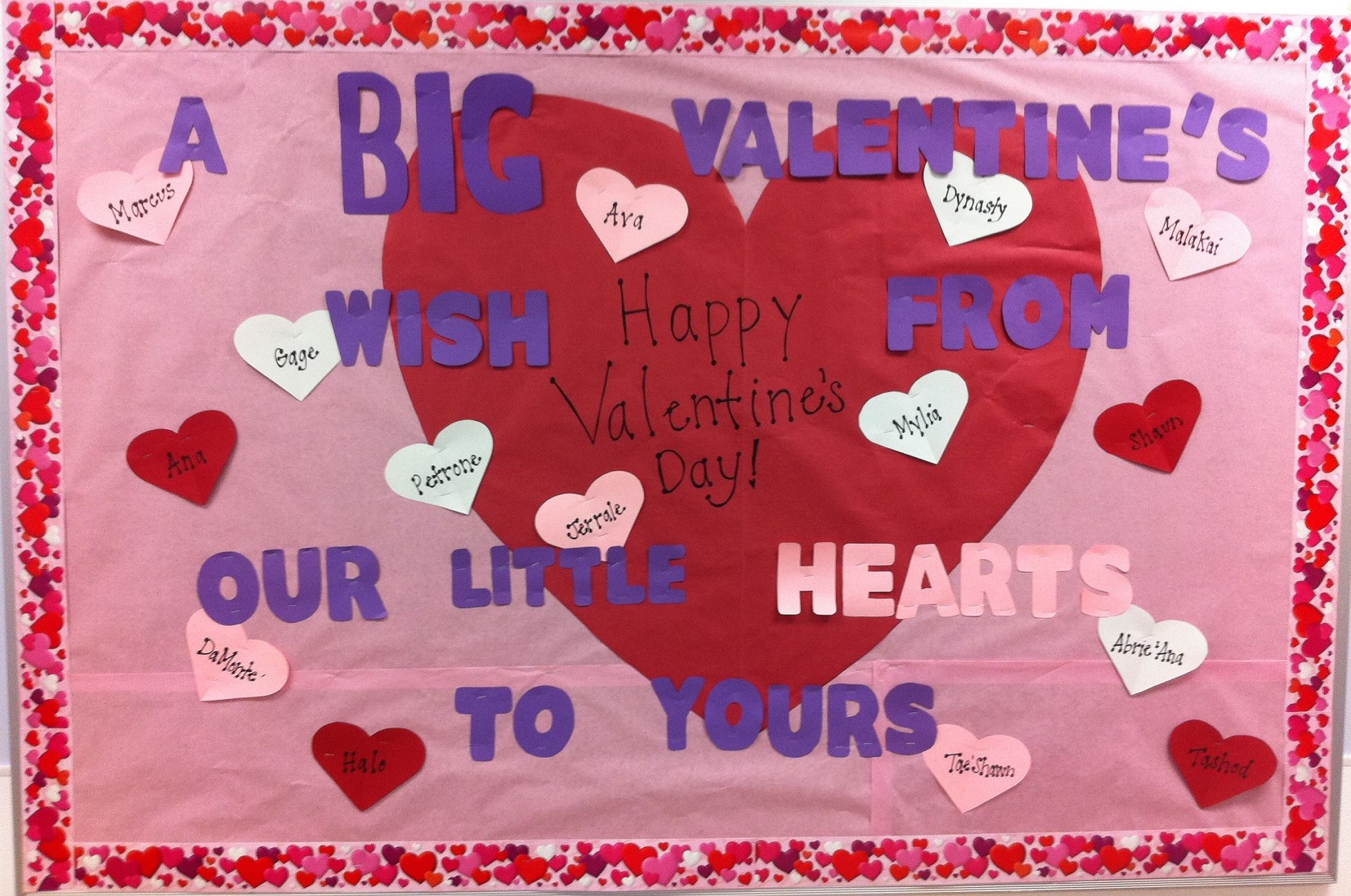 big wishes, little hearts - valentine's day bulletin board | school