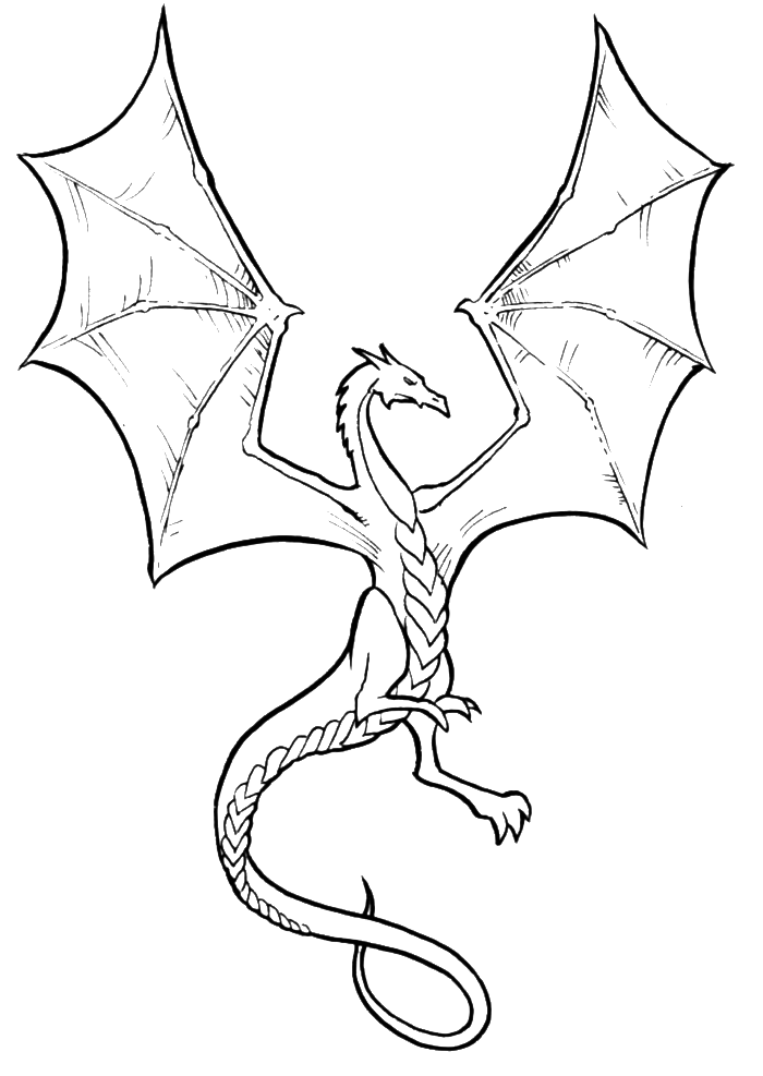 The Dragon Arkanian Coloring Pages Simple dragon drawing