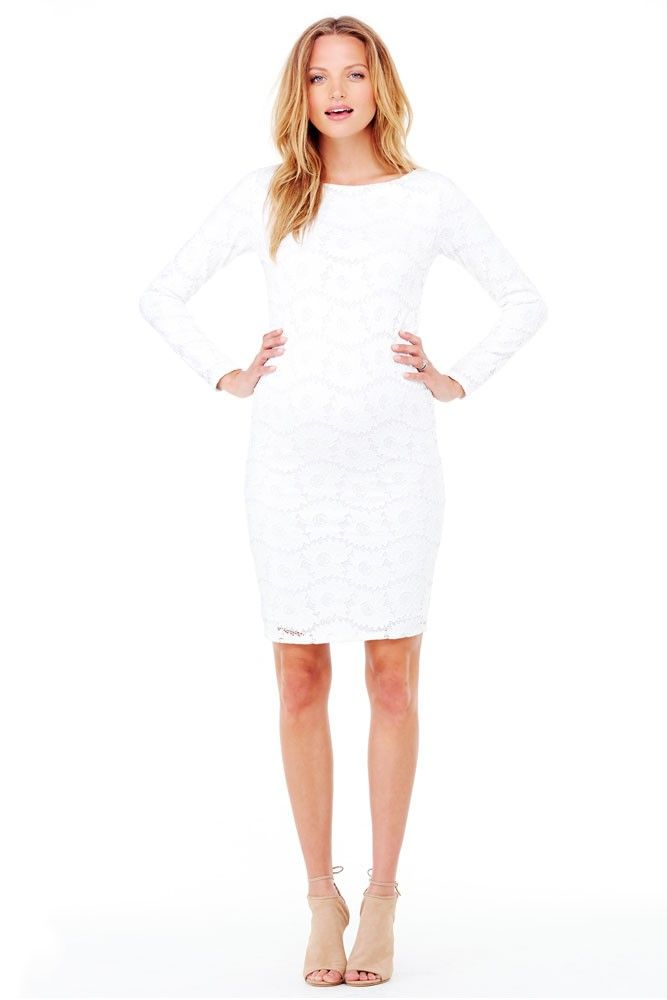 567b2bff80f20 Ingrid & Isabel Boatneck Lace Maternity Dress in Winter White.Please use  coupon code NewProducts to receive 15% off these items. To receive the  discount, ...