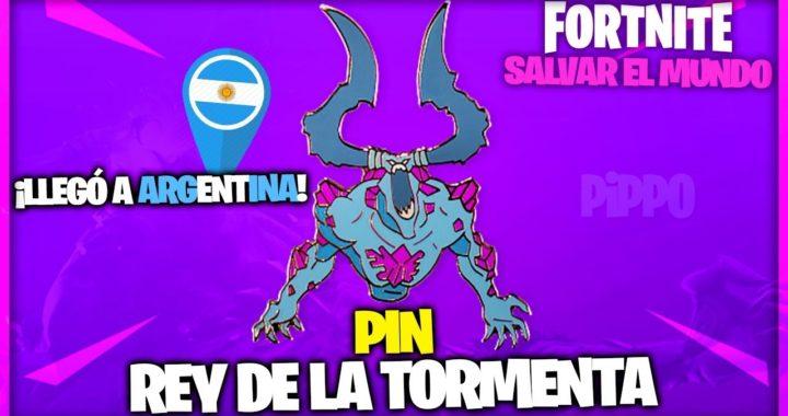 Pin Rey De La Tormenta Fortnite Salvar El Mundo Fortniteros Es Tormenta Fortnite Rey