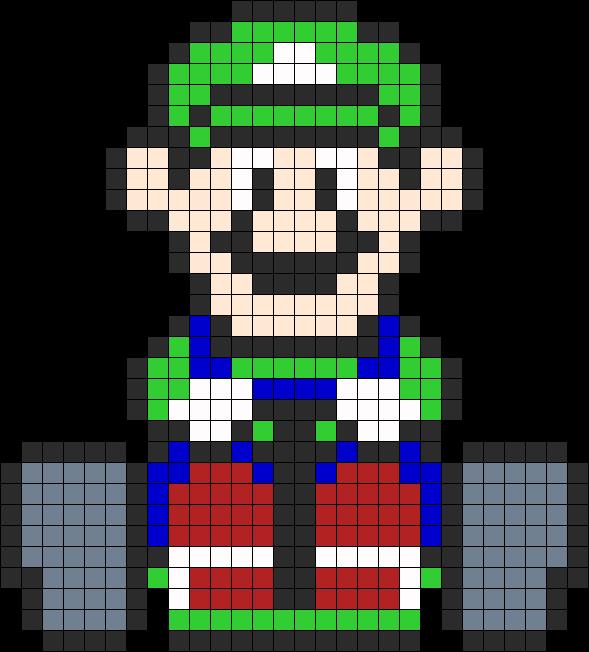 Sandylandya Outlook Es Luigi Mario Kart Perler Perler Bead Pattern