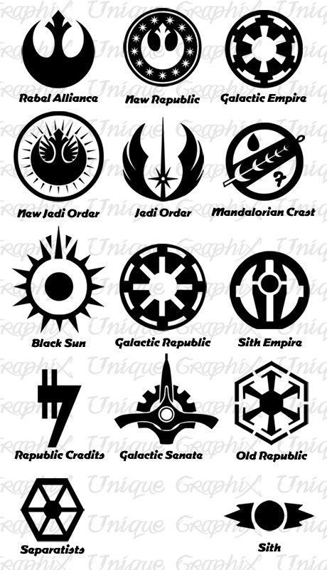 Star Wars Symbols | Force | Pinterest | Star wars symbols, Star wars  tattoo, Star wars geek