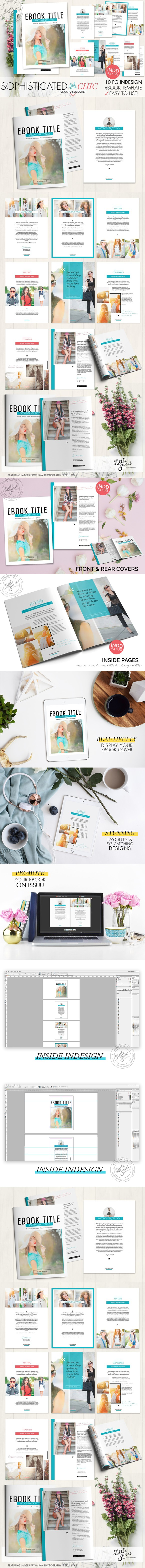 10page eBook Template InDesign + Pho | Pinterest