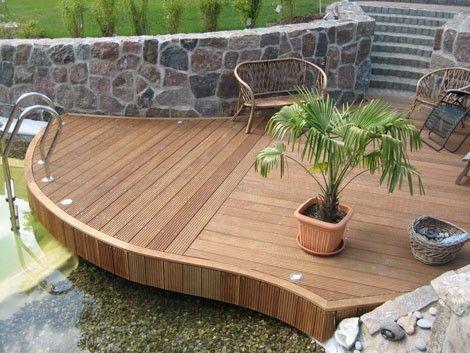 Terrasse Am Schwimmteich - Ausbau - Hausideen, So Wollen Wir Bauen