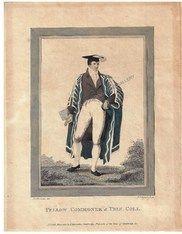 Academic Fashion Fellow Commer Trinity College Cambridge Harraden Antique Print