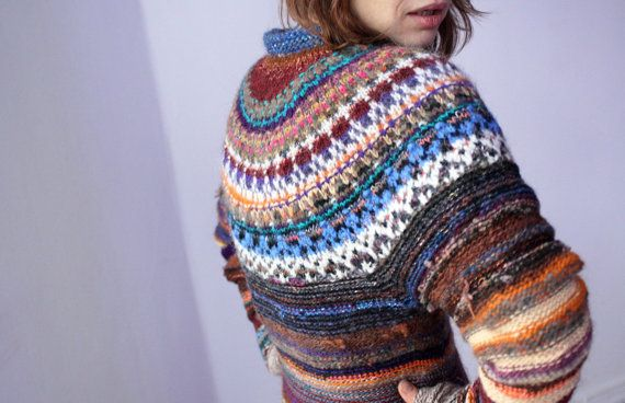 FREE SHIPPING! Handmade Icelandic style long sweater / tunic