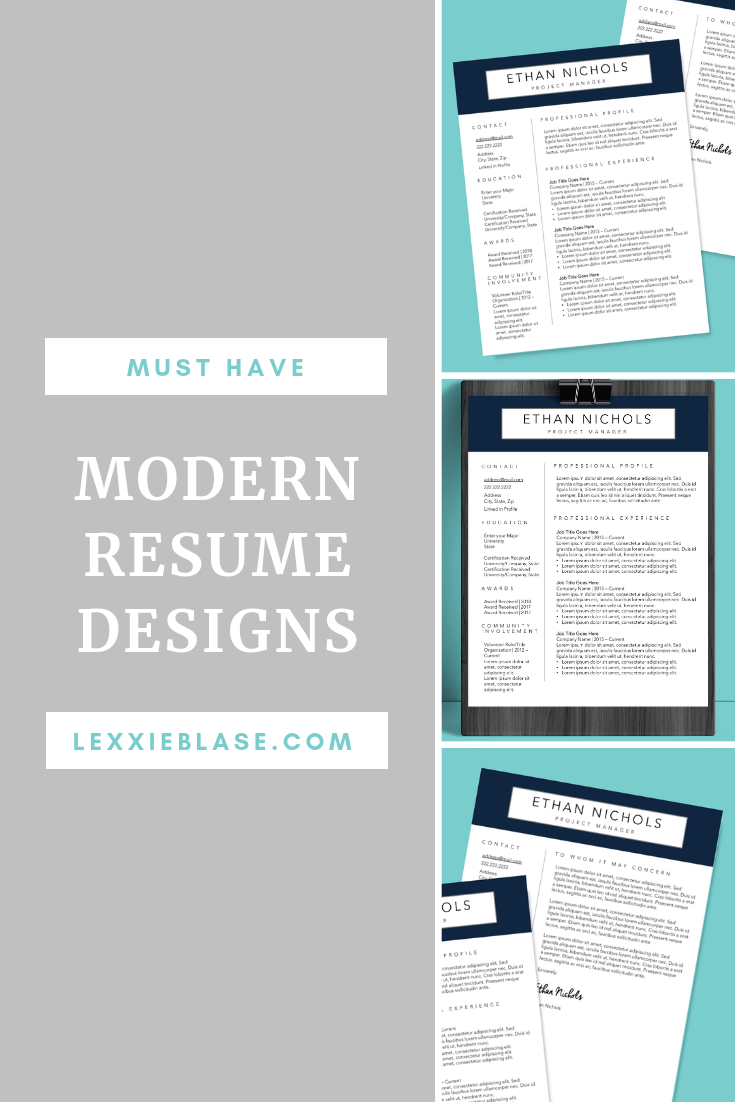 professional resume and cover letter template instant digital