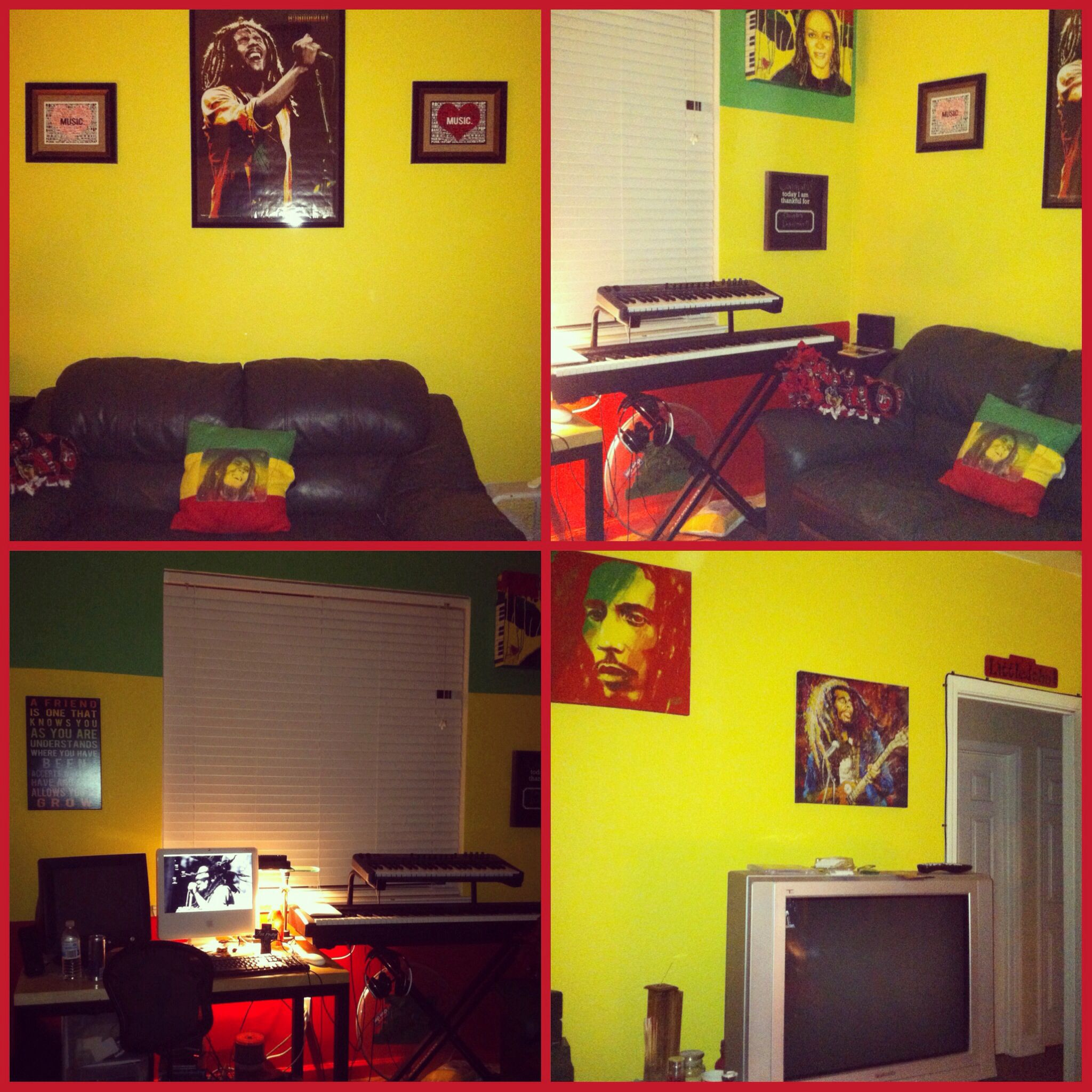 My Rasta/Bob Marley themed room. | Room painting ideas | Pinterest ...