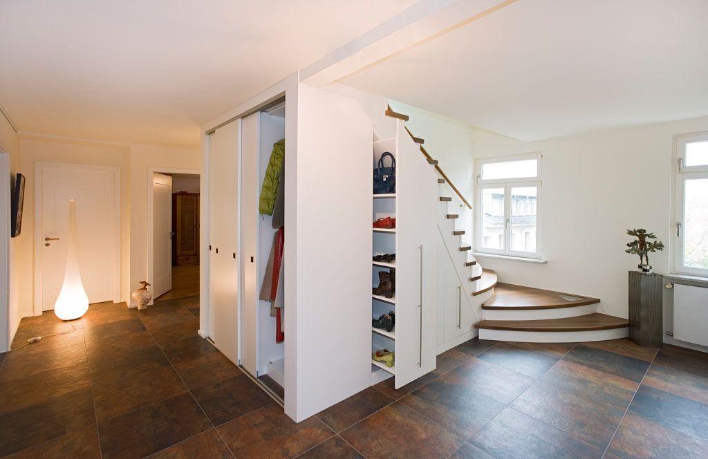 gaderobe apothekerschrank einbau weiss treppe   Garderobe   Pinterest