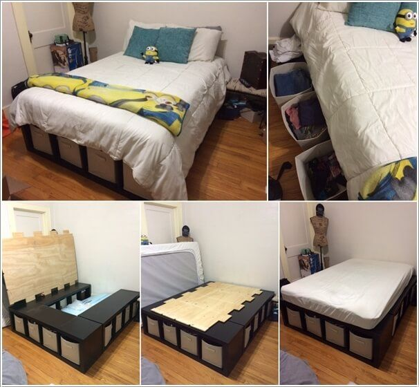 15 Clever Storage Ideas for a Small Bedroom  Favorite Spaces in 2019  Diy bed Bedroom storage