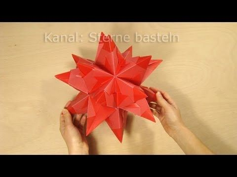 sterne falten bascetta stern basteln origami youtube paper art. Black Bedroom Furniture Sets. Home Design Ideas