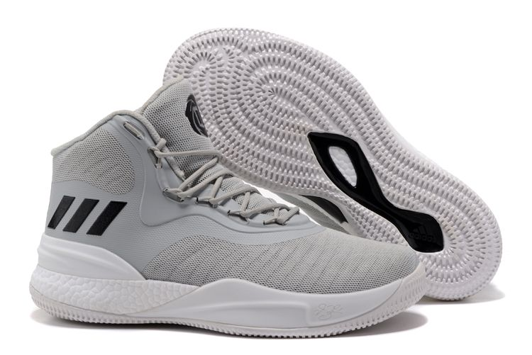 adidas D Rose 8 Cool Grey White-Black Shoes For Sale b11b2329bd
