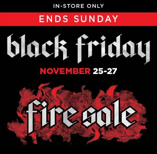 Bargain Up To 50 Off Black Friday Fire Sale Rockshop Co Nz Black Friday Off Black Black