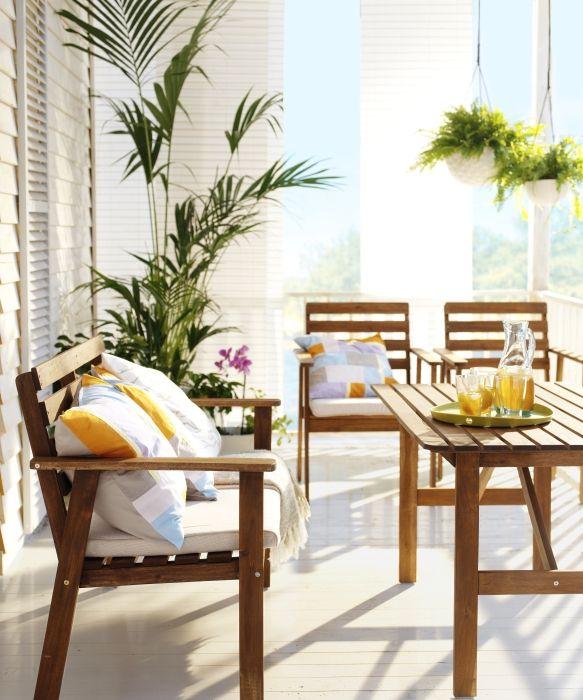 Attraktive Dekoration Dekor Balkon Ikea