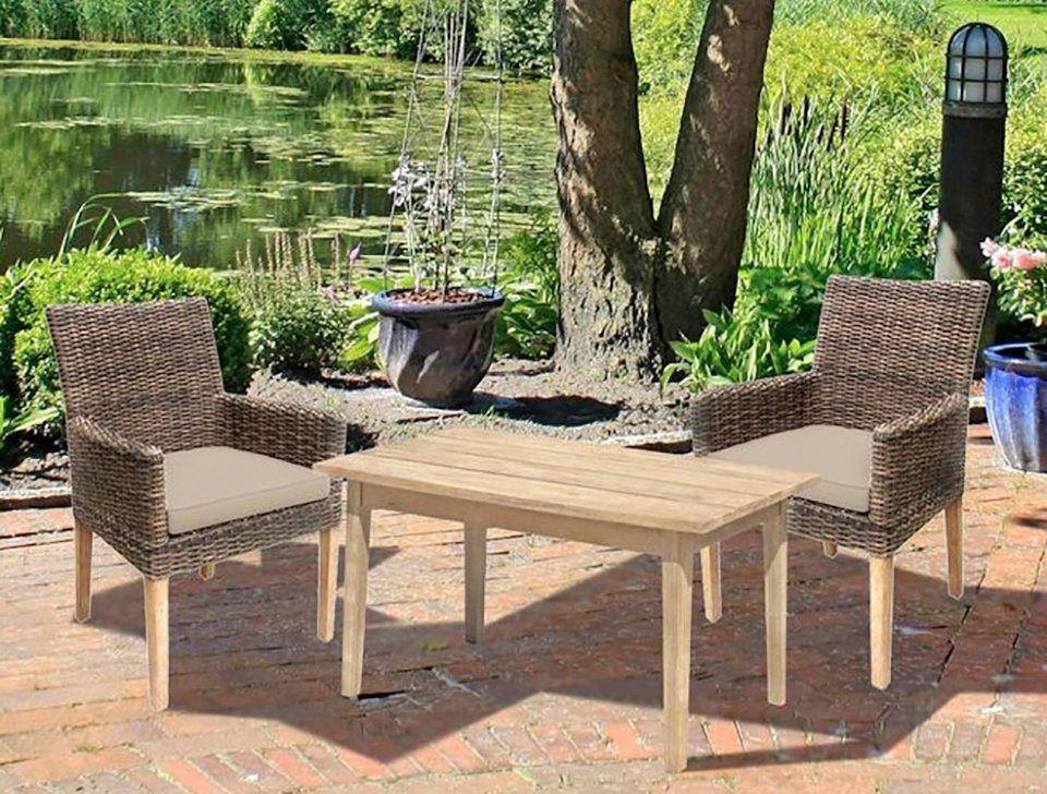 Gartenmobelset Norvell Pueblo 3 Tlg 2 Sessel Tisch