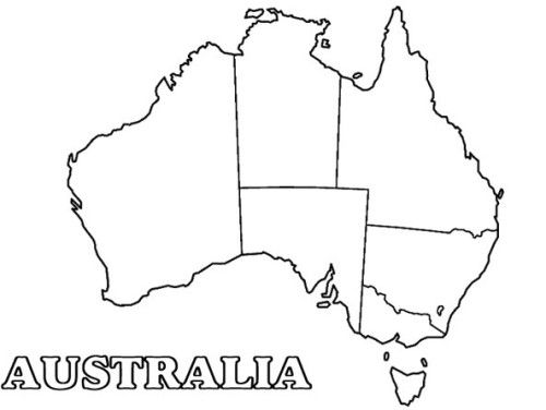 Pictures Map Of The Great Australian Day Coloring For Kids ...