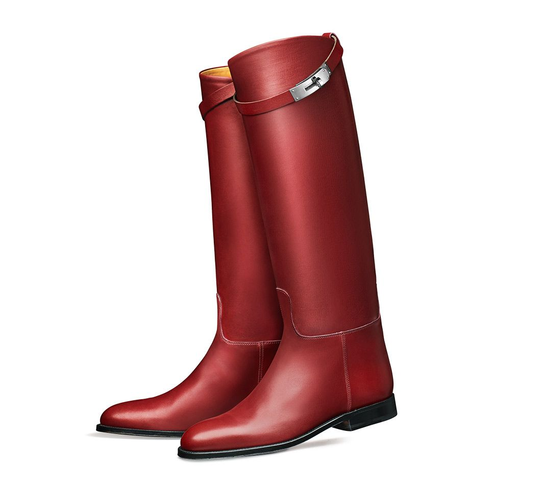 Hermes Red Jumping Boot Boots Hermes Boots Hermes Shoes