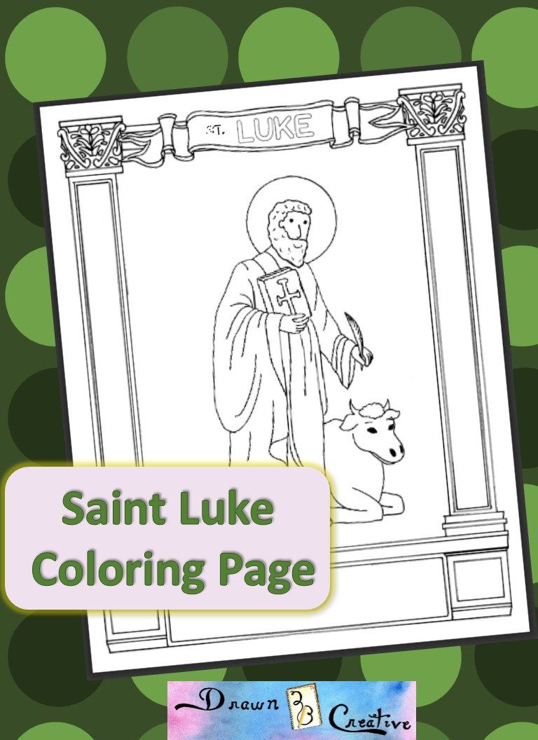 Saint Luke Coloring Page Coloring Pages Catholic Kids Coloring