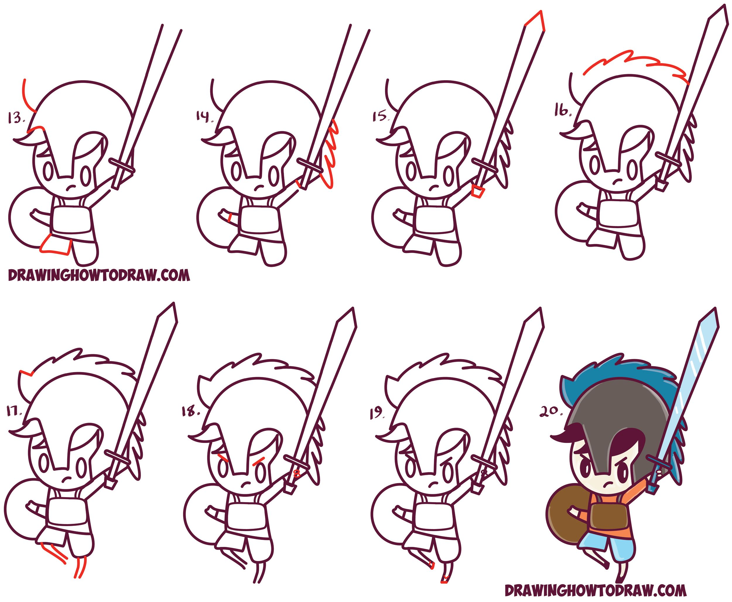 How To Draw Percy Jackson Cute Cartoon Chibi Kawaii Style